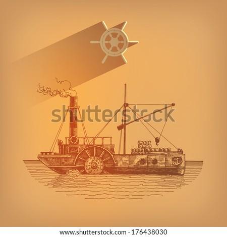 Ship. Vector format - stock vector
