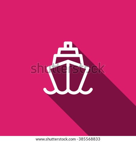 ship, web icon. vector design