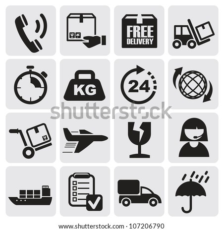 shipping and delivery - stock vector