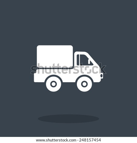 Shipping and delivery of web icon. vector design - stock vector