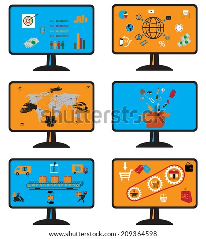 Shipping and delivery vector icons set  and services icons - stock vector
