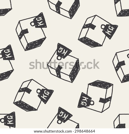 shipping box doodle seamless pattern background