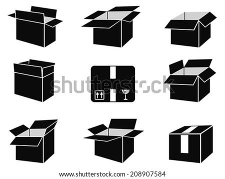 shipping box icons - stock vector