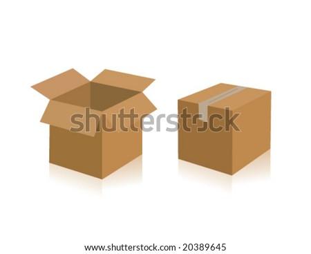 Shipping Boxes - stock vector
