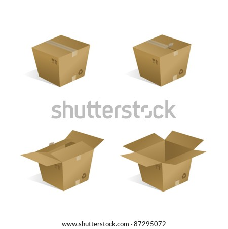 Shipping Boxes - stock vector