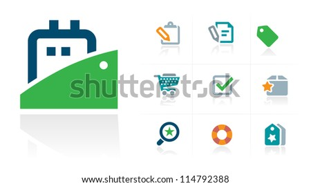 Shipping Company Icons - stock vector
