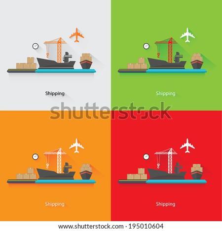 Shipping Concept,vector - stock vector