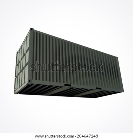 Shipping container vector - stock vector