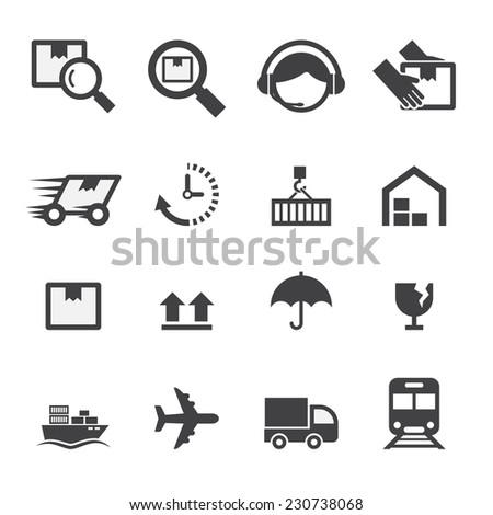 shipping icon - stock vector