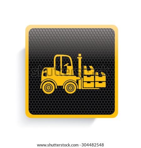 Shipping icon design,yellow version,clean vector - stock vector