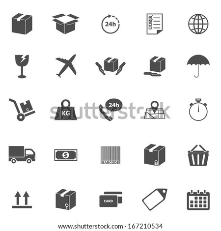 Shipping icons on white background, stock vector - stock vector