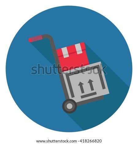 shipping inventory icon - stock vector