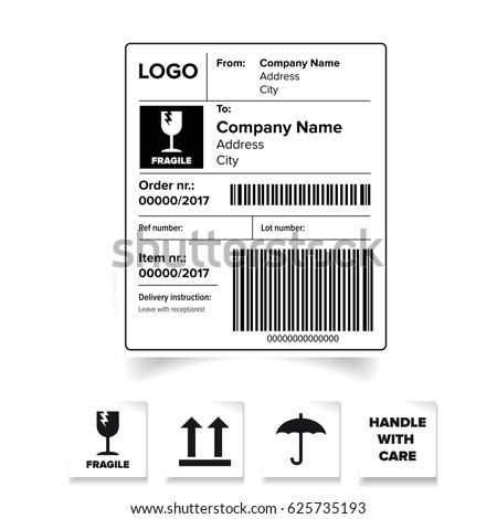shipping label barcode stock images royalty free images vectors shutterstock. Black Bedroom Furniture Sets. Home Design Ideas