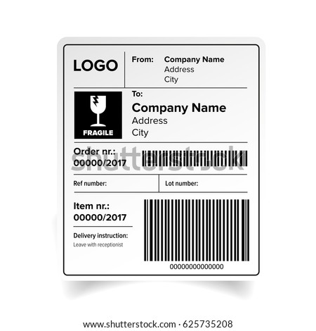 Shipping Label Images RoyaltyFree Images Vectors – Shipping Label Template Free