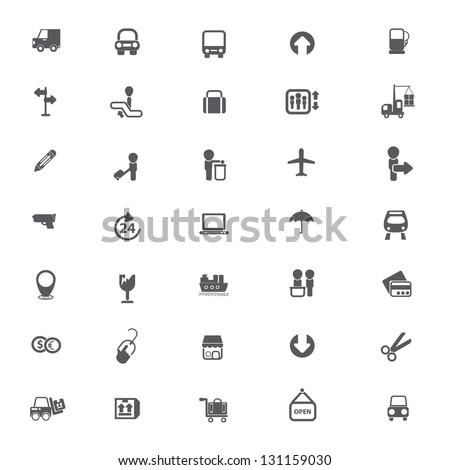 Shipping, logistics, e-commerce icons,vector - stock vector