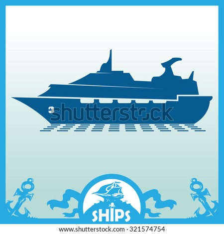 Ships, boats, cargo, logistics, transportation and shipping icons - stock vector