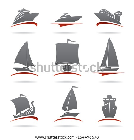 Ships set. Vector - stock vector