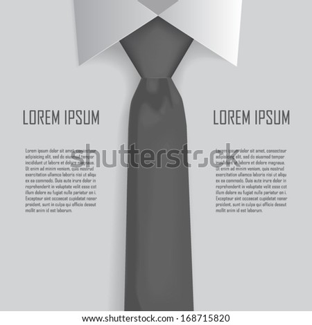 Shirt and tie business bacground vector - stock vector