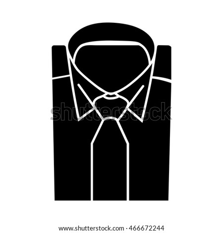 Shirt and tie icon suit men formal business logo.