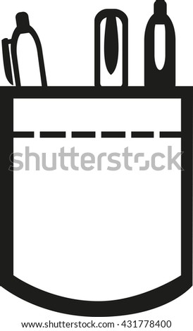 shirt pocket pens stock vector 431778400 - shutterstock