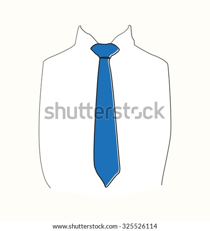 Shirt with blue tie