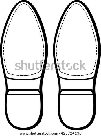 shoe bottoms - stock vector