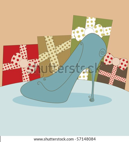 Shoe Fashion Background - stock vector