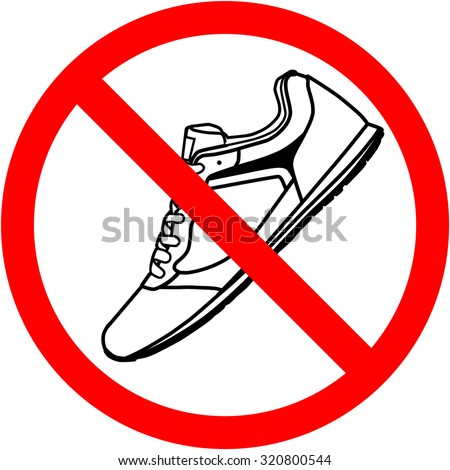 Shoe print symbol .Vector icon