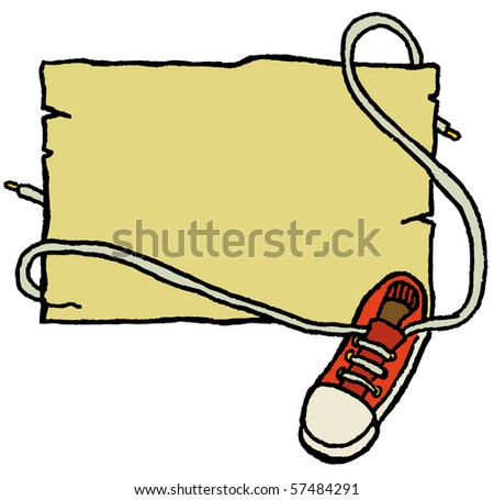 shoe sign - stock vector