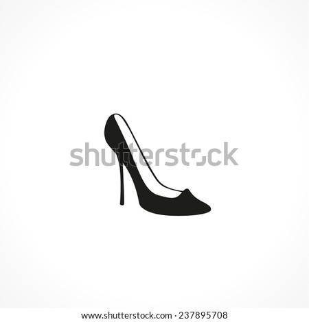 shoe vector icon - stock vector