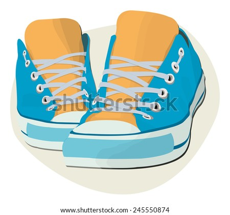 shoes boys - stock vector