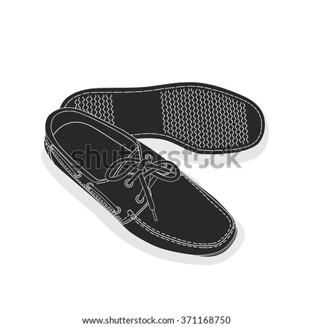 Shoes flat icon. Vector illustration. - stock vector