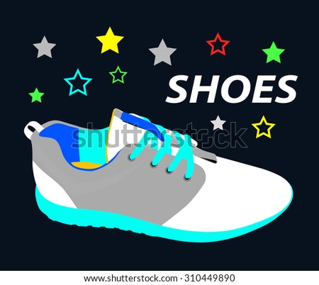 Shoes. Footwear. Sneakers. vector illustration.