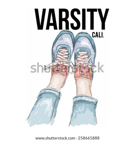 shoes illustration - stock vector