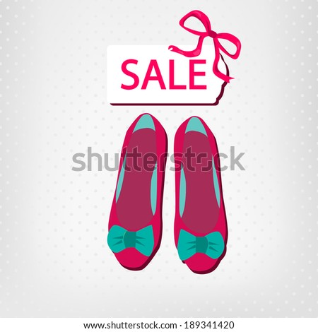 shoes sale - stock vector