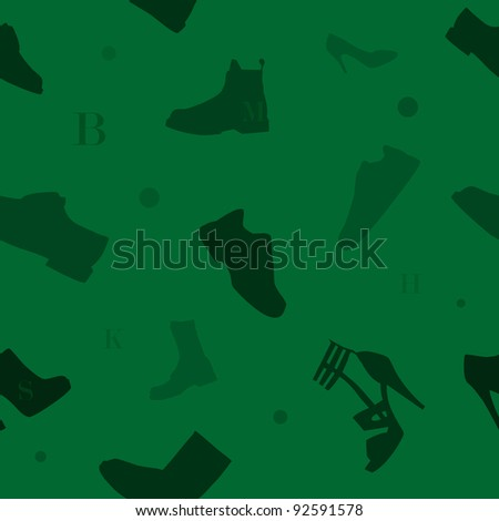Shoes seamless pattern green