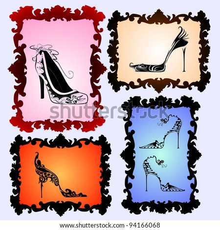 shoes set - stock vector