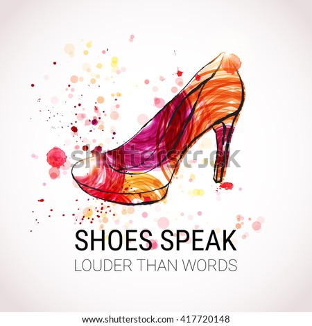 Shoe logo stock images royalty free images vectors for High heel shoe design template