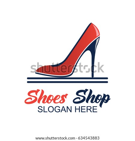 shoes store shoes shop logo with text space for your slogan tag line for