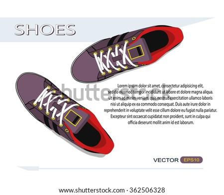 shoes vector - stock vector