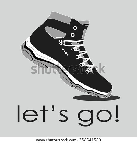 shoes. Vector illustration. - stock vector