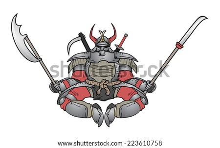 Shogun ninja - stock vector