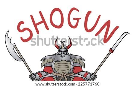 Shogun samurai - stock vector