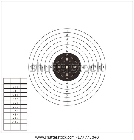 Shooting Range Silhouettes Stock-vector-shooting-range