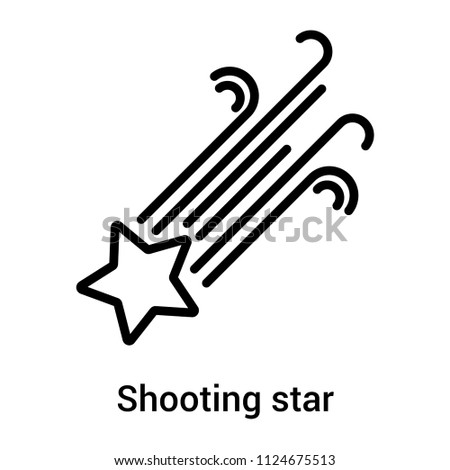 shooting star icon vector isolated on stock vector hd royalty free