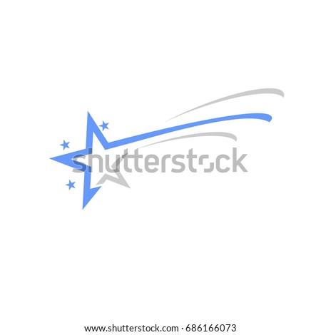 shooting star logo stock vector 2018 686166073 shutterstock rh shutterstock com shooting star logo vector shooting star chase logo