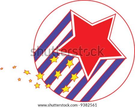 Shooting star political vector logo - stock vector