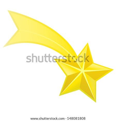 Shooting star vector - stock vector