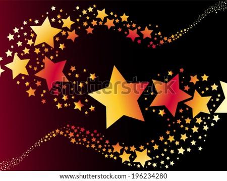 shooting star vector illustration - stock vector