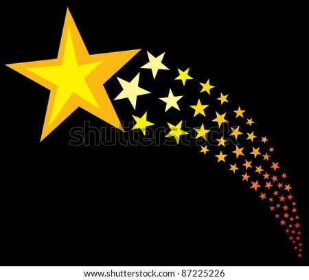 shooting stars (flying stars) - stock vector